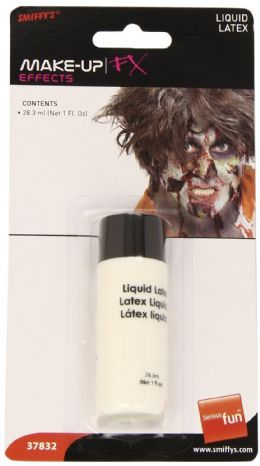 Smiffy's 1oz Halloween Liquid Latex Fake Skin, Scars, Wounds Fancy Dress Make Up